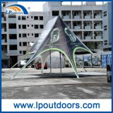 10X14mのイベントのための屋外の習慣の印刷の倍のピークの星のテント
