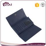 Carpetas azules del monedero del embrague de la PU del diseño del Bowknot del color para las mujeres