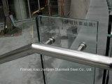 Corrimão em aço inoxidável feito sob encomenda de escada em aço inoxidável