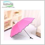 Guarda-chuva de cabeça para baixo do presente da promoção do guarda-chuva de 3 dobras