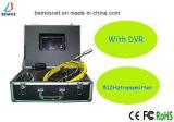 Buona macchina fotografica di vendita di controllo della fogna del tubo con il trasmettitore 512Hz e DVR