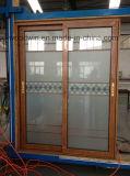 Portello scorrevole di alluminio caldo di vetro Tempered del doppio del venditore del Guangdong Woodwin