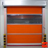 Красная автоматическая дверь штарки ролика ткани PVC