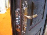 Porte en acier de garantie de type d'entrée en bois américaine de bord