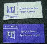 Etiqueta tecida do damasco do corte vestuário quente