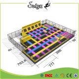 Parque barato do Trampoline da ginástica das esteiras do preço da fábrica com rede de segurança
