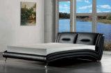 새로운 우아한 디자인 침실을%s 현대 진짜 가죽 침대 (HC959)