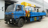 Dongfeng 4X2 트럭 10 톤에 짐 거치되는 기중기 5 톤 XCMG