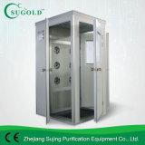 Singel人のSingel側面のステンレス鋼のクリーンルームのコーナーの空気シャワー