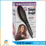 Cabelo elétrica Pente de endireitamento Cerâmica Escova alisador de cabelo