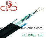 CAT6 extérieur avec le câble de messager/câble d'ordinateur/câble de caractéristiques/câble de transmission/le câble/connecteur sonores