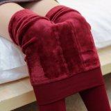 女性の冬の暖かい羊毛のレギング