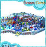 小さい幼稚園のPlaygroundchildrenのスライドのプレイハウス