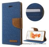 Ursprüngliche Mercury Goospery Telefon-Zellen-beweglicher Fall für iPhone Luxuxbeutel-Segeltuch-Tagebuch-Leder-Standplatz-Deckel