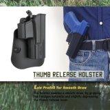 Glock 19 pistoleras del desbloquear del pulgar