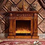 ライトおよびヒーター(333)が付いている簡単なヨーロッパの彫刻の電気暖炉