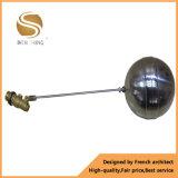 Vávula de bola de cobre amarillo funcionada manual de flotador de la pulgada de 3/4 pulgada el 1/2 roscada