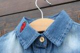 نمو دنيم قميص [ليتّل كيد] بنات طويلة كم أقمصة