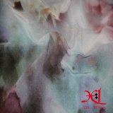 Tissu Chiffon en soie d'impression de fleur de Digitals pour le vêtement/robe