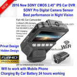 "Novo Sony Imx322 Car Digital Video DVR com 2.45 ""IPS Screen, 5.0mega Car Camera, Full HD1080p Car Black Box,, Wireless WiFi Mini Car Camera DVR-2409"