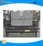 refrigerador de refrigeração água do parafuso do refrigerador 360ton para a planta de tratamento por lotes concreta