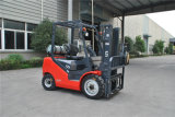 Tonelada LPG do Un 3.0 da nova série e Forklift do combustível do dobro do Forklift da gasolina com motor do GM