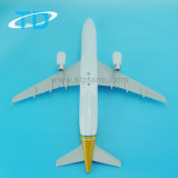 Модель воздуха золотистого 37cm ABS Эрбас A320 пластичная Desktop