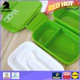 Zwei Schicht-Plastikmittagessen-Kasten