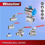 3PC Edelstahl Full Bore Ball Valve mit Direct Mounting Pad 1000wog