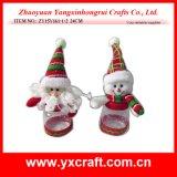 Productos calientes del item de la botella de la Navidad de la decoración de la aldea de la Navidad de la decoración de la Navidad (ZY15Y152-1-2)