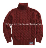 Fiber natural Wool Mixed Turtleneck Pullover para Baby