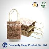 El mini bolso de papel impreso Kraft