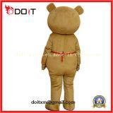 Trajes animais da mascote do urso vermelho da peluche do avental para relativo à promoção