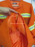 Высокая видимая куртка безопасности с отражательным Workwear ленты