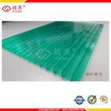 Ein UVbeschichtung 50-Micron PC Blatt-Polycarbonat-Dach-Panels ordnen