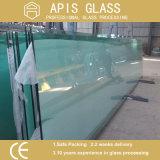 """Vidro de porta de chuveiro de 3/8 """"com dois furos e dois entalhes de dobradiça Rectificando vidro temperado claro com Ce e SGCC"""