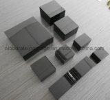 Caja determinada de la joyería de madera brillante negra de lujo