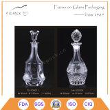 gravierte Glaswein-Flasche des Diamant-620ml Muster mit Glaskorken-Dichtung