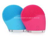 La despedregadora eléctrica de la cara vibra masaje facial de limpiamiento del BALNEARIO del cuidado de piel de la vibración del Massager del cepillo del silicón impermeable