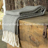 Weave Herringbone 100%Cotton Blanket Throw