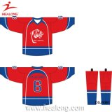 Os esportes de Healong personalizaram a camisola do hóquei do gelo do Sublimation
