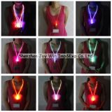 Collier LED promotionnel LED sangle en nylon Collier, LED lanière
