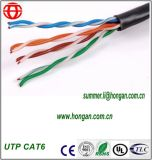 Cable de la red de UTP CAT6 para las comunicaciones de Digitaces