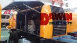 Fabricante agregado grande remolcable de la bomba concreta del motor diesel 80m3/Hr del acoplado
