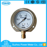 demi d'indicateur de pression de bas d'acier inoxydable de 100mm avec le support de bride