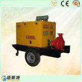 携帯用ディーゼル駆動機構の消火活動の水ポンプセット