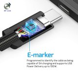 E 마커와 힘 납품을%s 가진 새로운 도착 USB 3.1 유형 C 케이블