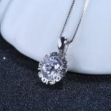 Ожерелье CZ стерлингового серебра женщин 925 инкрустированное привесное с цепью