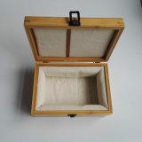Boîte en bois rôtie portative respectueuse de l'environnement à vin de forme ronde