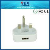 Заряжатель Великобритания сотового телефона USB 5V штепсельной вилки высокого качества UK